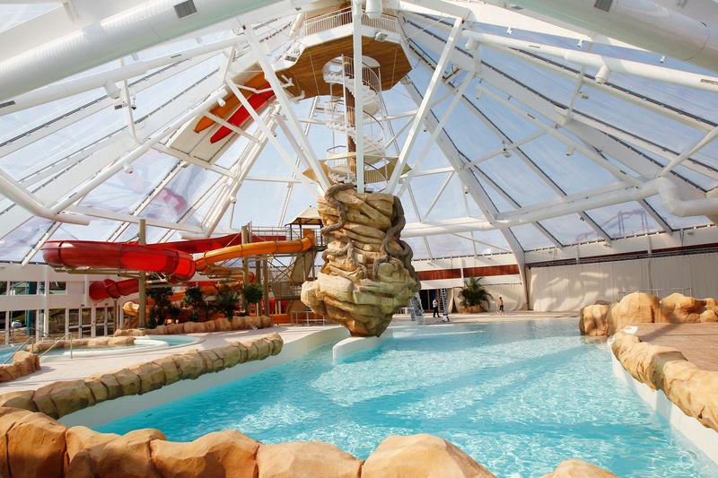 Subtropisch zwembad Aqualibi te Wavre (Belgie)